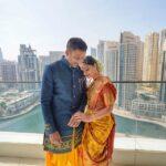 Sonalee Kulkarni with husband Kunal Kunal Benodekar