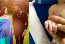 hardik pandya shares first picture of his baby boy