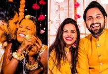 Siddharth Chandekar Actor Mitali Mayekar Actress Haldi Marriage Photos