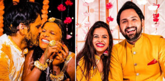 Siddharth Chandekar Actor Mitali Mayekar Actress Haldi Marriage Photos