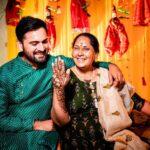 Siddharth Chandekar with mother aai wedding ceremony